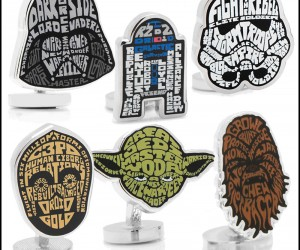 Typographic Star Wars Cuff Links