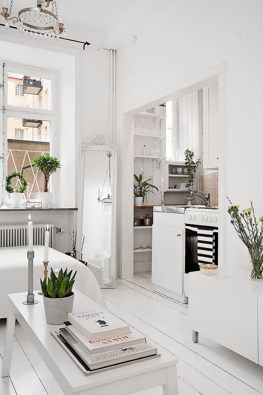 Ultra small studio apartment in stockholm with smart scandinavian design - Decoration studio 20m2 ...