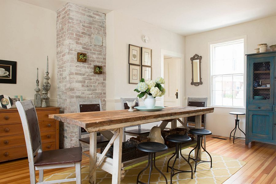 Unassumingly Chic Farmhouse Style Dining Rooms