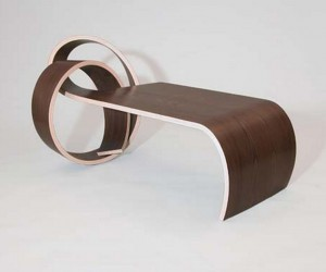 unique curved coffee table beautiful design by Kino Guerin