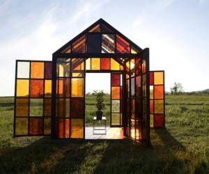 Unique greenhouse crafted in sugar and solitude