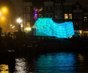 UNStudio  MDT-tex unveil Eye_Beacon Pavilion at Amsterdam Light Festival