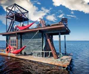 Unwind with the Saunalautta floating sauna raft