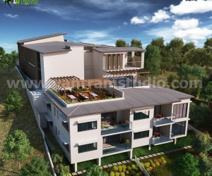 Up-hill Exterior House Design Ideas by Architectural Rendering Studio - London, UK