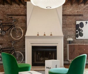 Urban Industrial: Loft Apartment in Jersey City Turns to Vivacious Color
