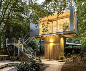 Urban Treehouse: A Relaxing Hub of Stylish Sustainability