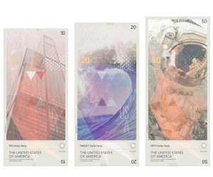 US Dollars re-imagined by Travis Purrington