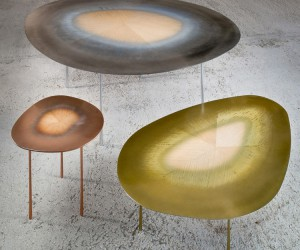 UUfie Blends Metal and Wood In Echo Table Series