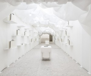 Valextra Pop-Up Store in Milan by Snarkitecture