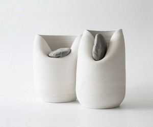 Vase with Stone by Martn Aza
