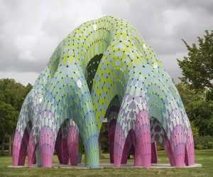 Vaulted Willow Pavilion in Edmonton by Marc Fornes  THEVERYMANY