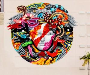 Versace x POW WOW Mural by Tristan Eaton