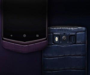 Vertu Constellation Navy And Plum Alligator