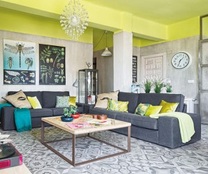 Vibrant Colored Nordic Style Pad Transformed in Murcia, Spain