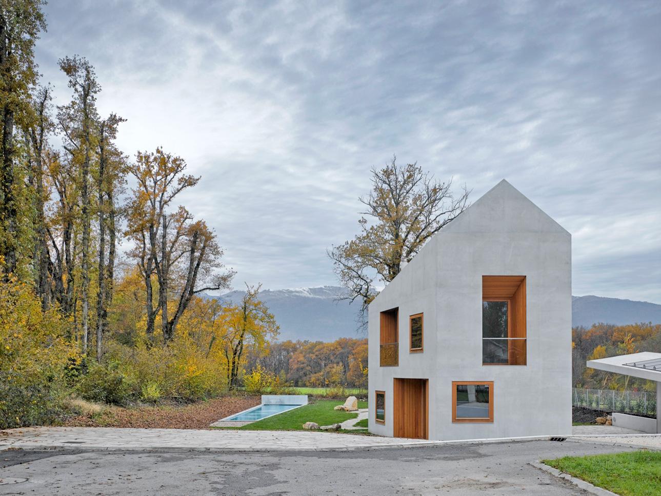 Villa In Genf By Clavien Rossier Architectes