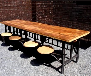 Vintage Cafeteria Tables at HudsonGoods.com