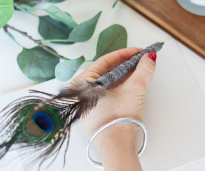 Vintage DIY Feather Pen