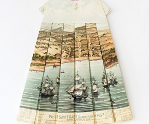 Vintage Paper Maps Fashioned Into Clothing