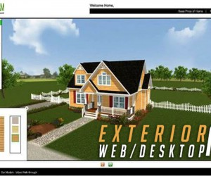 Virtual Interactive Desktop  WebGL Application For Exterior Elevation By Yantram Virtual Reality Studio - New Yoek, USA