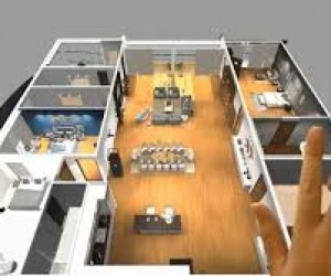 Virtual Reality Floor Plan Design for touch screen, VR Glasses  google cardboard experience
