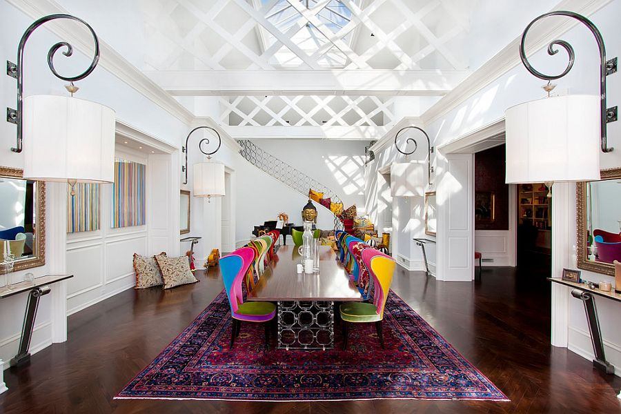Visual Feast 25 Eclectic Dining Rooms Drenched In Colorful Brilliance