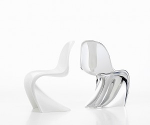Vitra Limited Edition Panton Chrome and Panton Glow