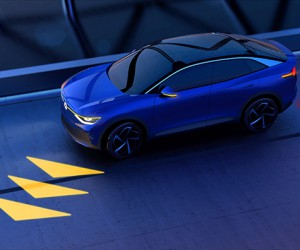Volkswagens New Matrix Lights Project Info Onto The Road