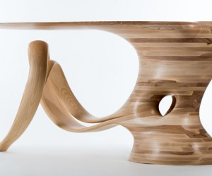 Waiho Sculptural Table by Robert Scott