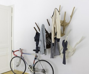 Wairs: Clothes Hanger made of Used Chairs by Nikos Tsoumanis