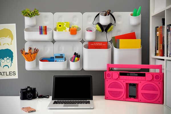 Magnetic Wall Decor wall decor and storage cheats: magnetic modular shelves