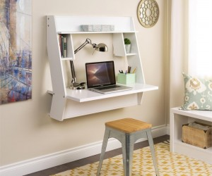 Wall-Mounted Desks That Save Room in Small Spaces
