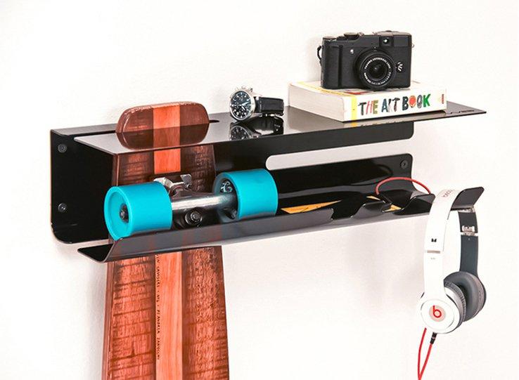 Skateboard Shelf wall ride skateboard shelf
