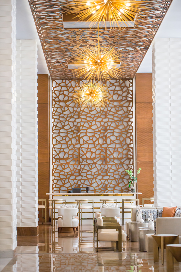 WallArt 3d Wall Decor Vaults in Waldorf Astoria Hotel in Panama
