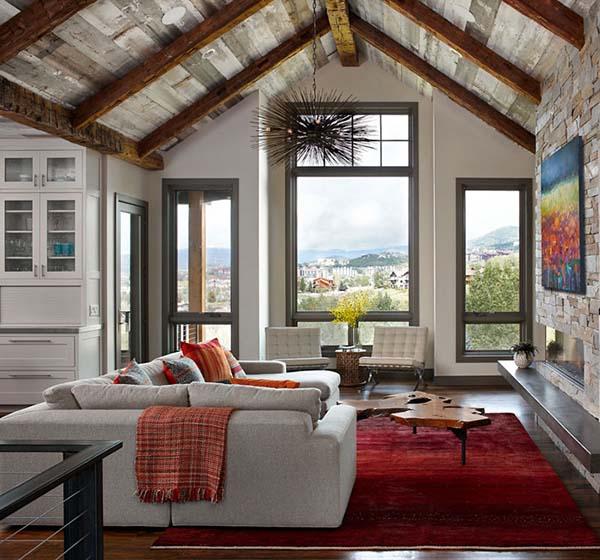 Warm Contemporary Interiors: Warm And Welcoming: Mountain Contemporary Retreat In Colorado
