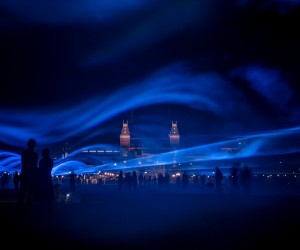 Waterlicht Installation by Daan Roosegaarde at Museumplein