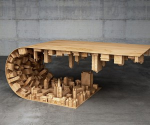 Wave City  Coffee Table Inspired by Inception Movie
