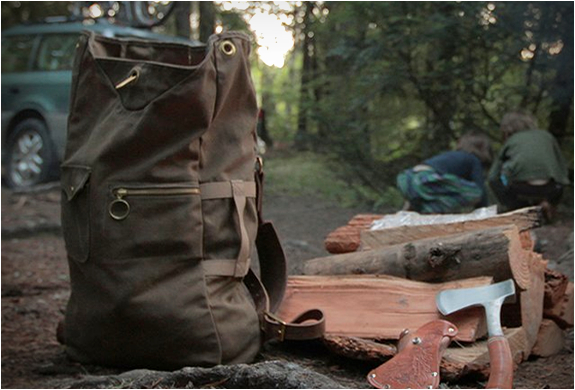 50667194dbec Waxed Canvas Military Duffle Backpack | Collected Works