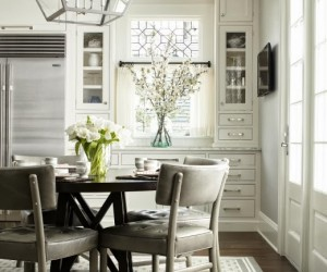 White contemporary kitchen by  Heidi Piron Design  Cabinetry.