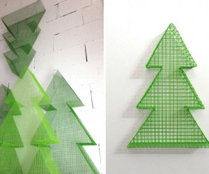 Wire Structured Christmas Trees
