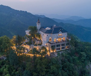 Wonderful Castle Located on Top of a Mountain in Zhejiang, China