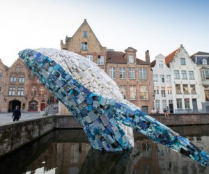Wonderful Giant Whale Made of Plastic Waste