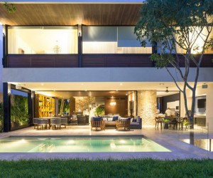 Wonderful House with Open Spaces Designed by the Architectural Firm R79 in Mexico