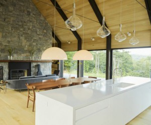 Wonderful Project of a Modern Barn with Elegant Interiors