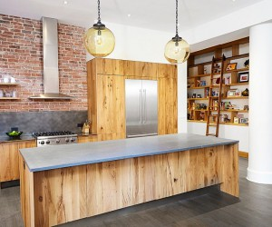 Wood, Brick and Refined Panache: Modern Industrial Wall Street Loft
