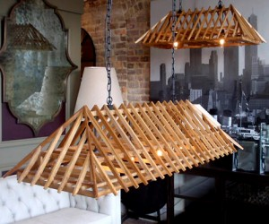 Wood Frame Architects Chandelier
