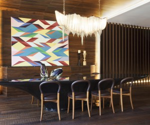 Wood in interior design: Afro-contemporary apartment by ARRCC
