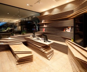Wooden Interior Design by Kengo Kuma