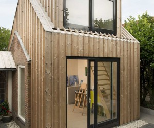 Wooden Volume Turns Old Shed into a Lovely Backyard Painting Studio