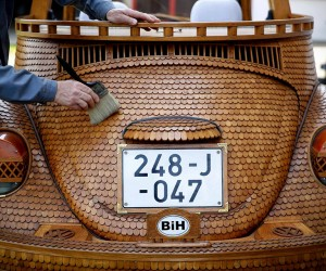 Wooden VW Beetle