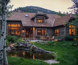 Woodland Chalet Imbues Rustic Elegance in Idahos Sun Valley